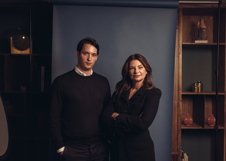 Nick Brown and Natalie Massenet of Imaginary Ventures / Photo: Tom Jamieson for The New York Times.