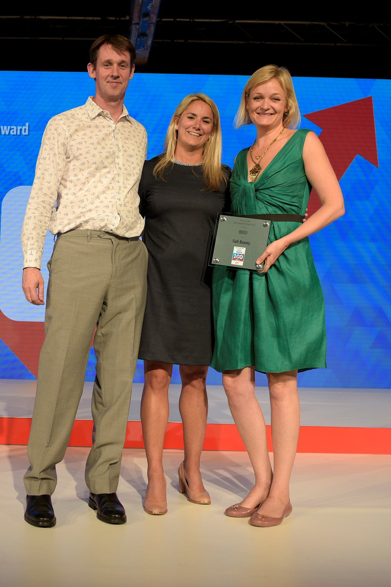 Co-chief executive Murray Salmon, Laura Shaw from award-sponsor BDO, and co-founder Alexia Inge.