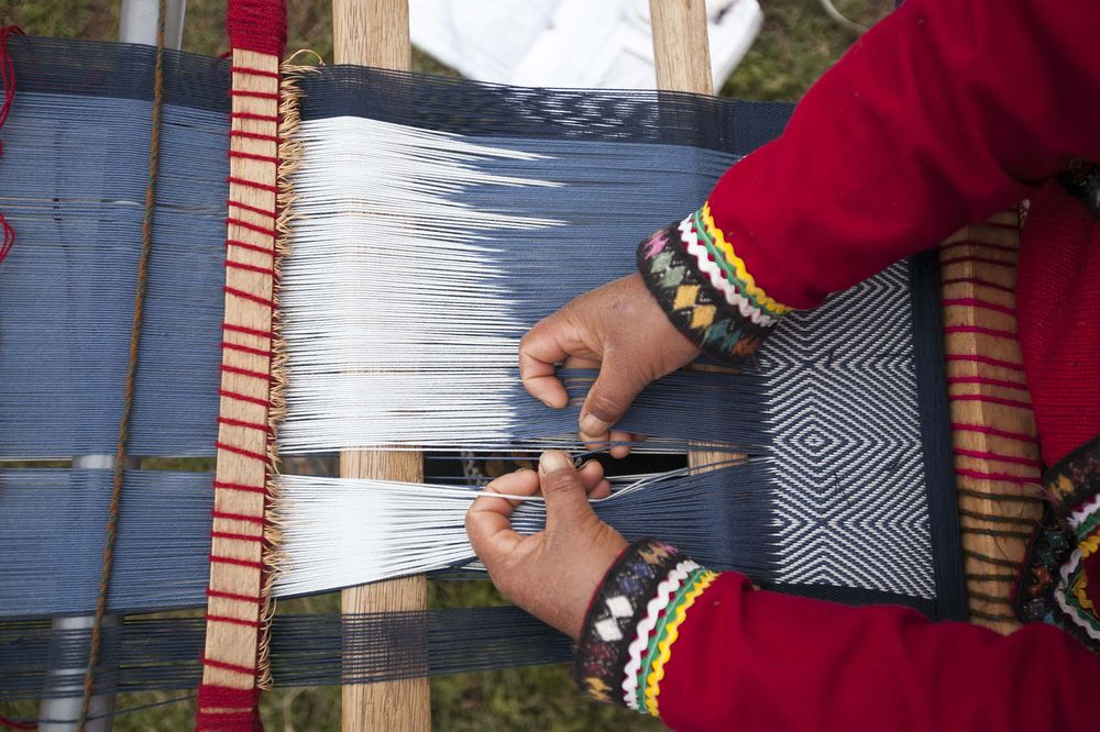 Weaving for AYNI in Cusco, Peru.