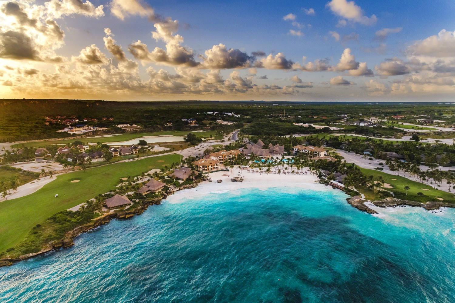 An aerial view of Eden Roc at Cap Cana in the Dominican Republic.