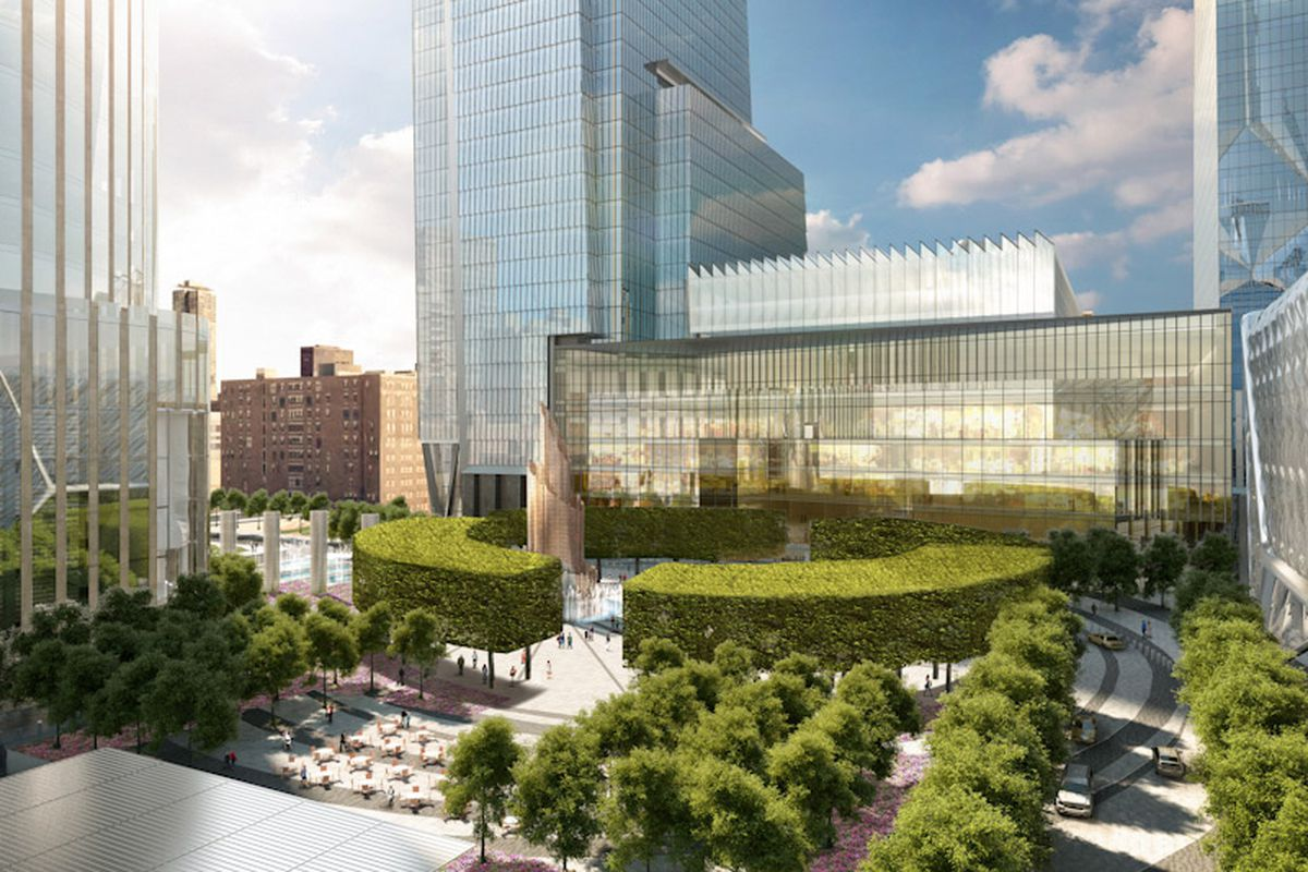 At Hudson Yards rainwater is collected to irrigate the development's plants and trees.