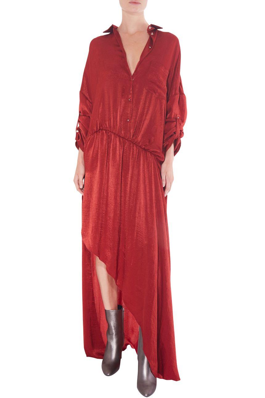 ESTEBAN CORTAZAR  Washed Satin Shirt Dress  Rental Price £192