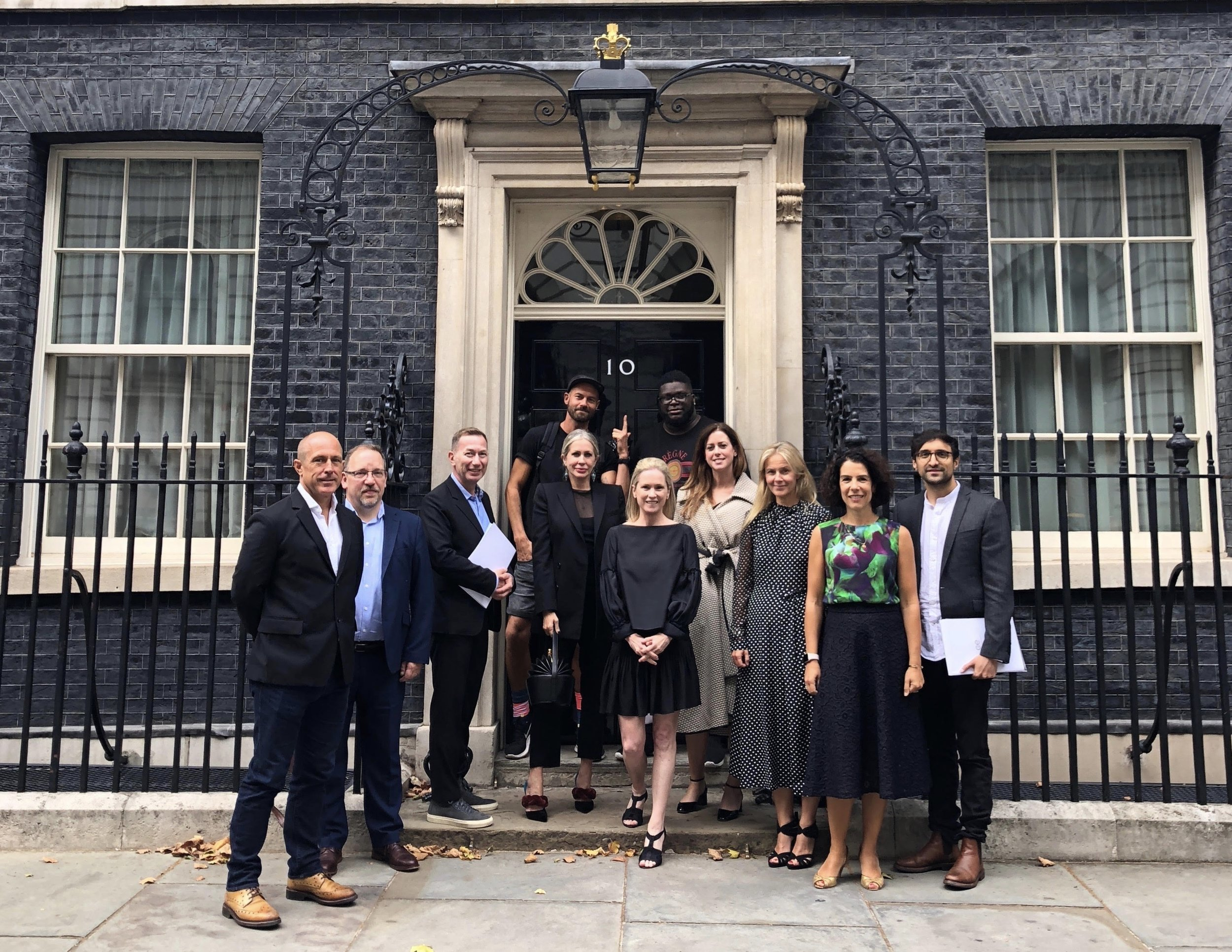 Carmen at Downing Street with other creative industry champions where they discussed a new entrepreneurship initiative.