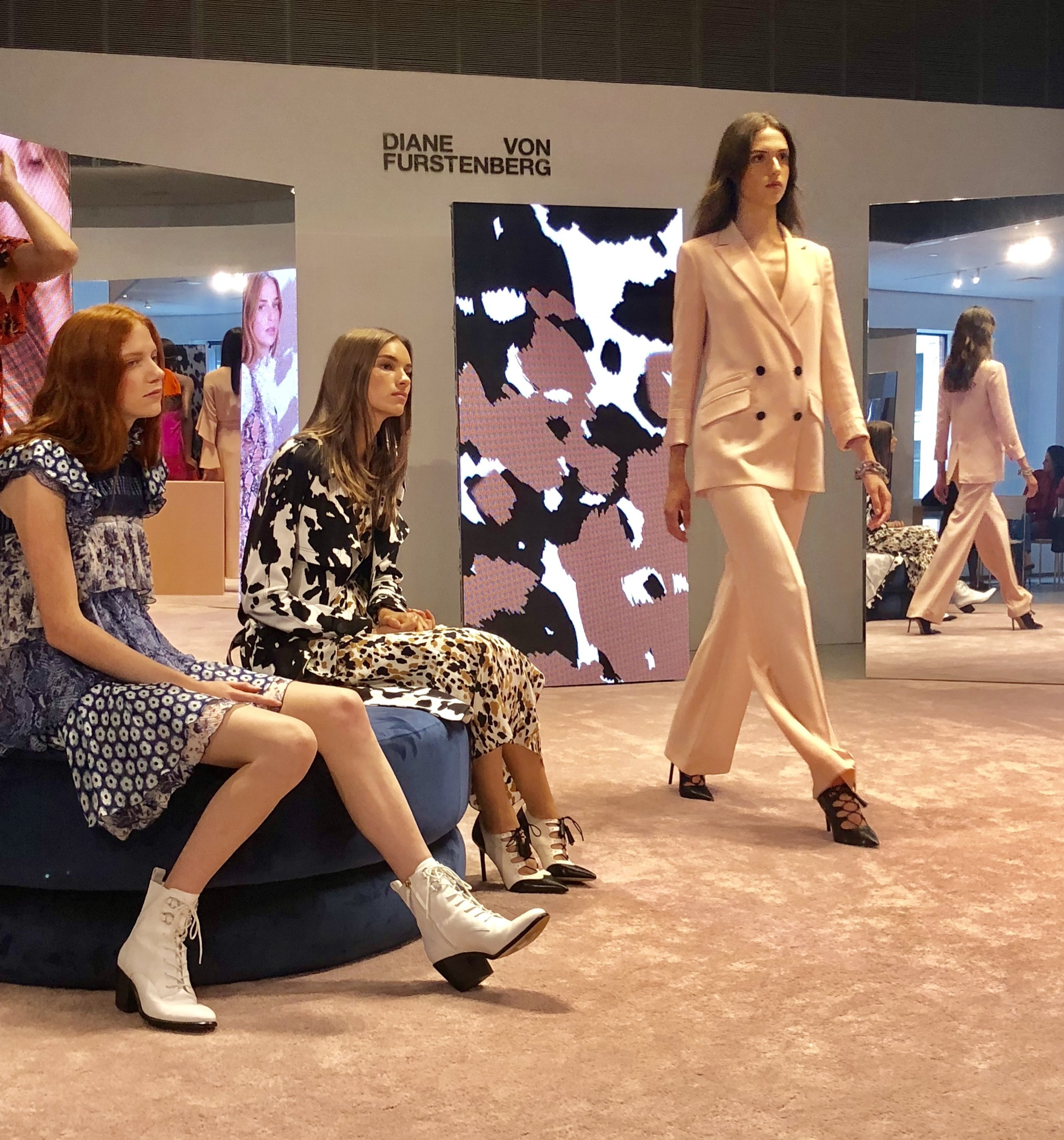 Diane von Furstenberg SS19 presented at DVF HQ in the Meatpacking District during New York Fashion Week.