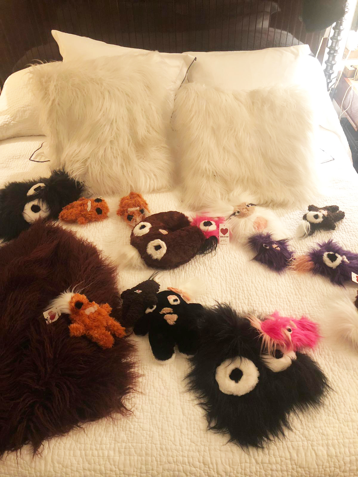 House Of Fluff's 'scrappy's are crafted from the scraps left over from making its coats and jackets.