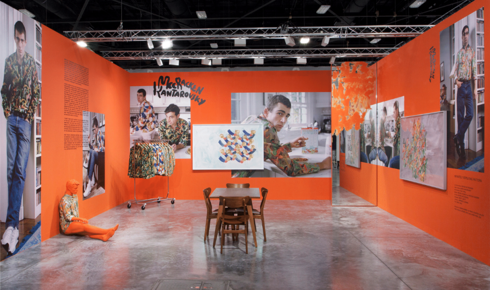 Blurring the lines between fashion boutique and art fair booth, and providing a commentary on modern masculinity, artist Sanya Kantarovsky and designer George McCracken's 'Infinitely Repeating Pattern, 2017' installation was showcased by Berlin's Tanya Leighton gallery at last year's fair