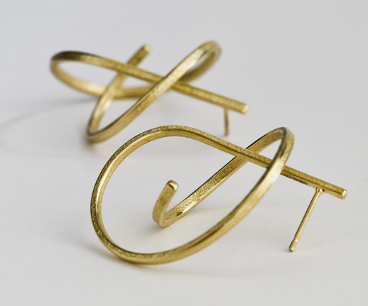 Ute Decker's Sand-Textured Curl Earrings.