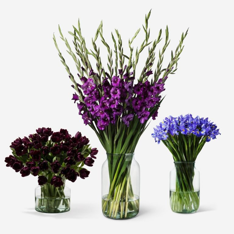 The company specializes in bunches of single variety blooms.