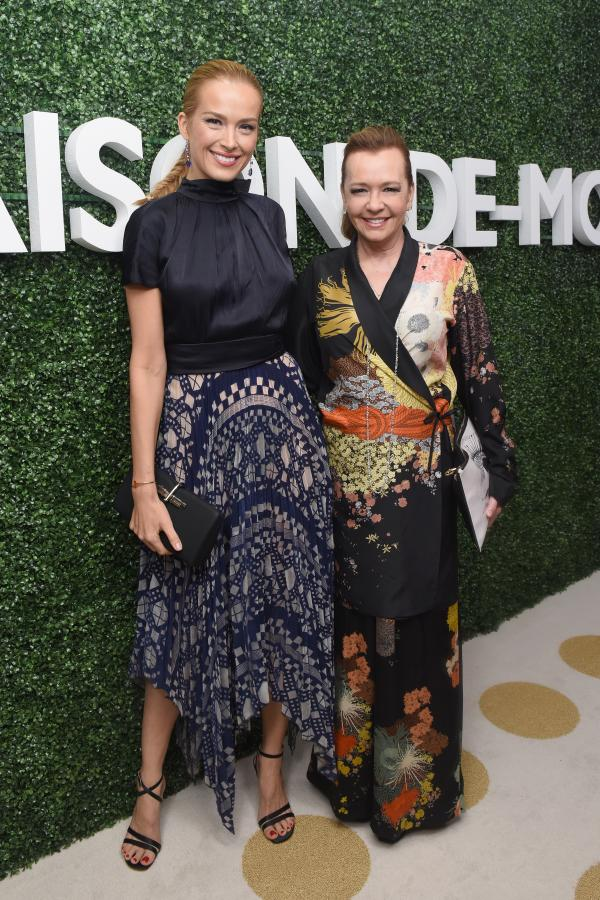 Petra Nemcova wearing pieces from Chopard's High Jewellery Collection with the company's Caroline Scheufele .
