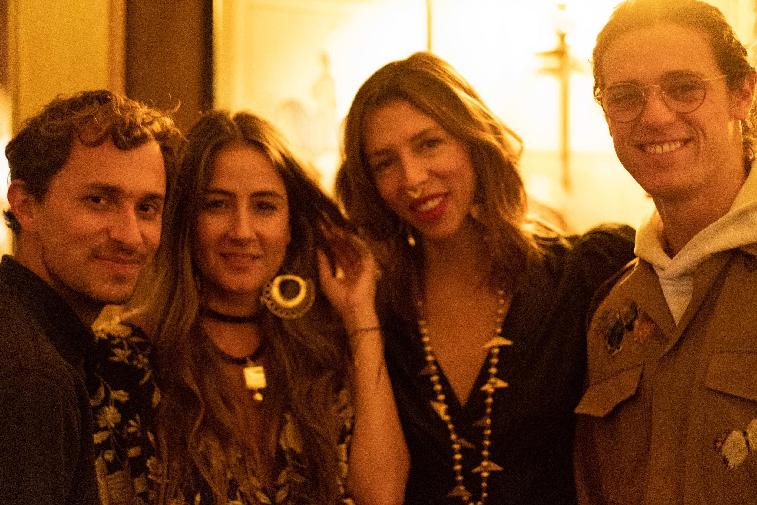 L-R: Colombian designers Esteban Cortazar and Johanna Ortiz, jewelry designer Paula Mendoza, and accessories designer Daniel Rueda-Sandoval.