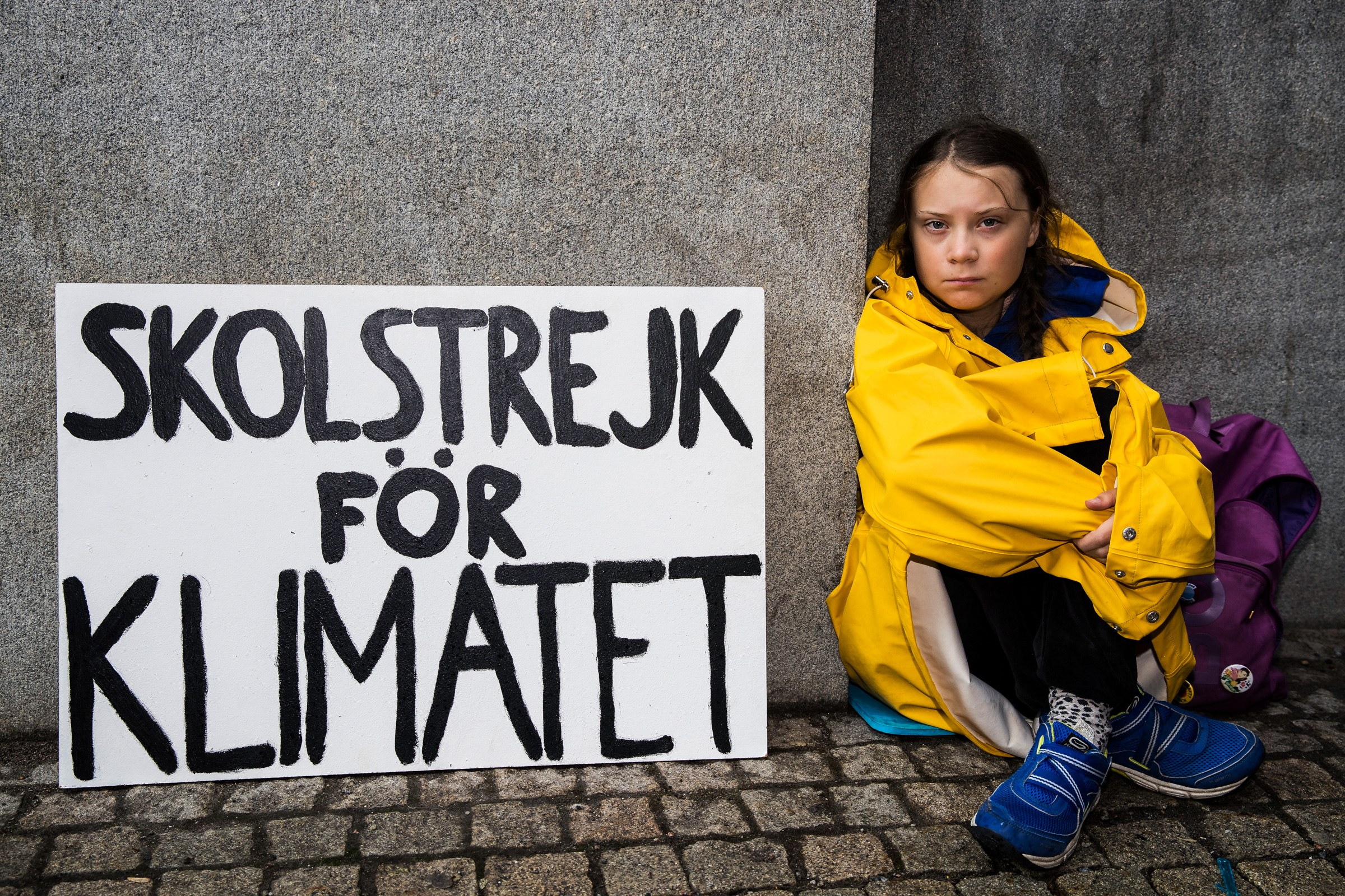 Greta Thunberg pictured outside the Swedish parliament last August / Photo: Michael Campanella/Getty.