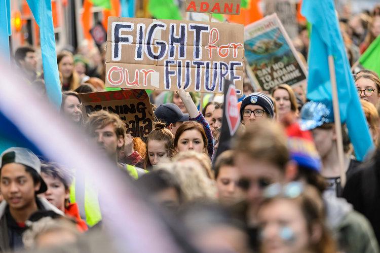 來自120多個國家的學生參加了由Thunberg啟發的全球氣候罷工/照片:schoolstrike4climate。