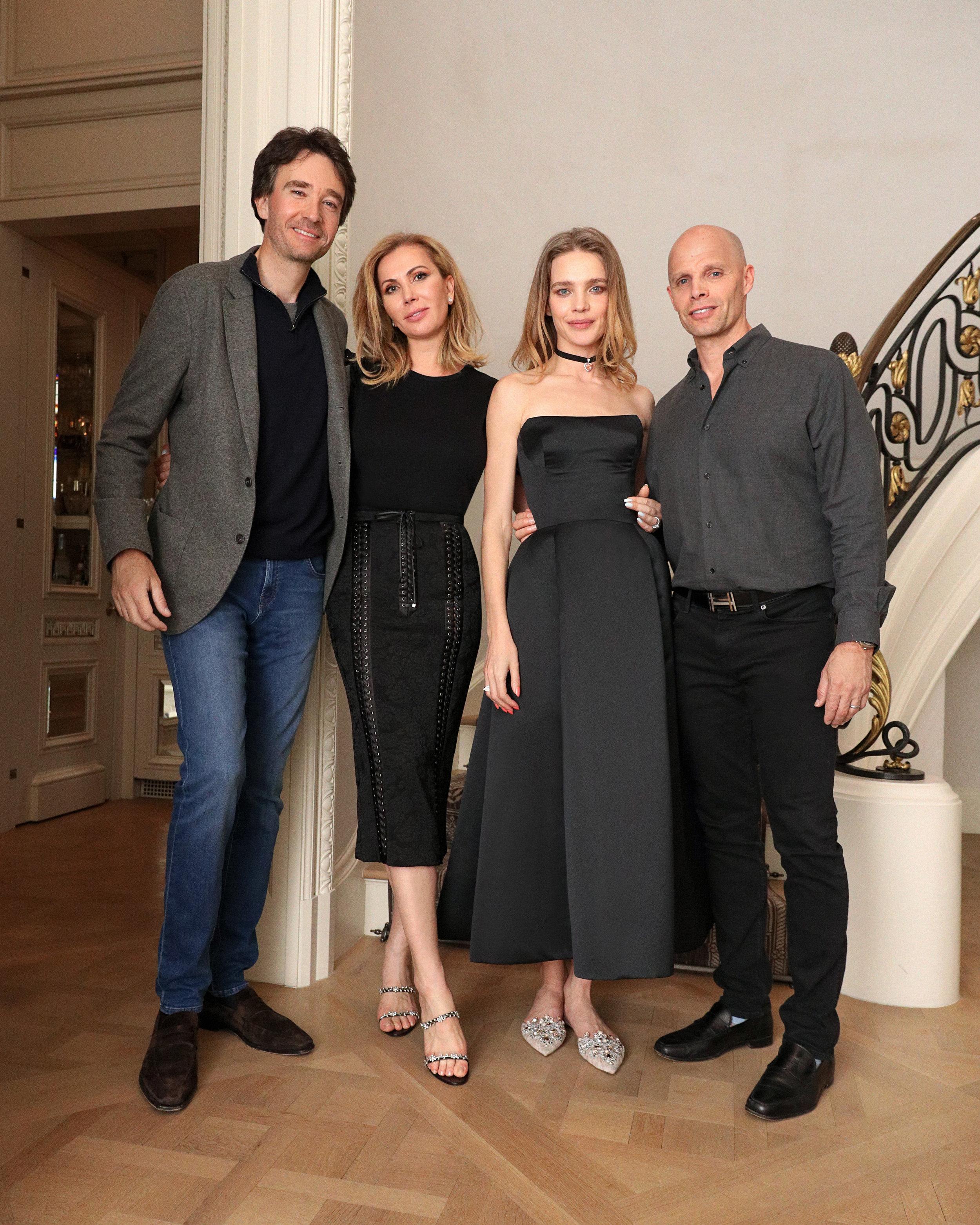 Antoine Arnault, Inga Rubenstein, Natalia Vodianova and Keith Rubenstein.