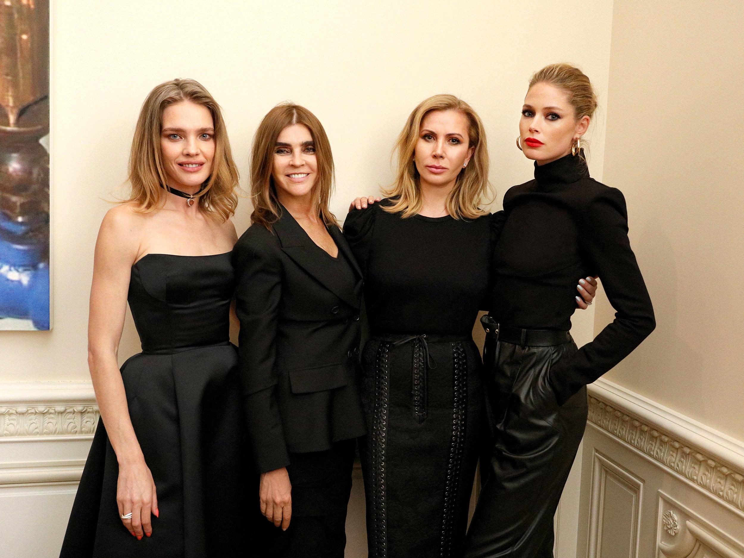 Natalia Vodianova, Carine Roitfeld, Inga Rubenstein, and Doutzen Kroes.