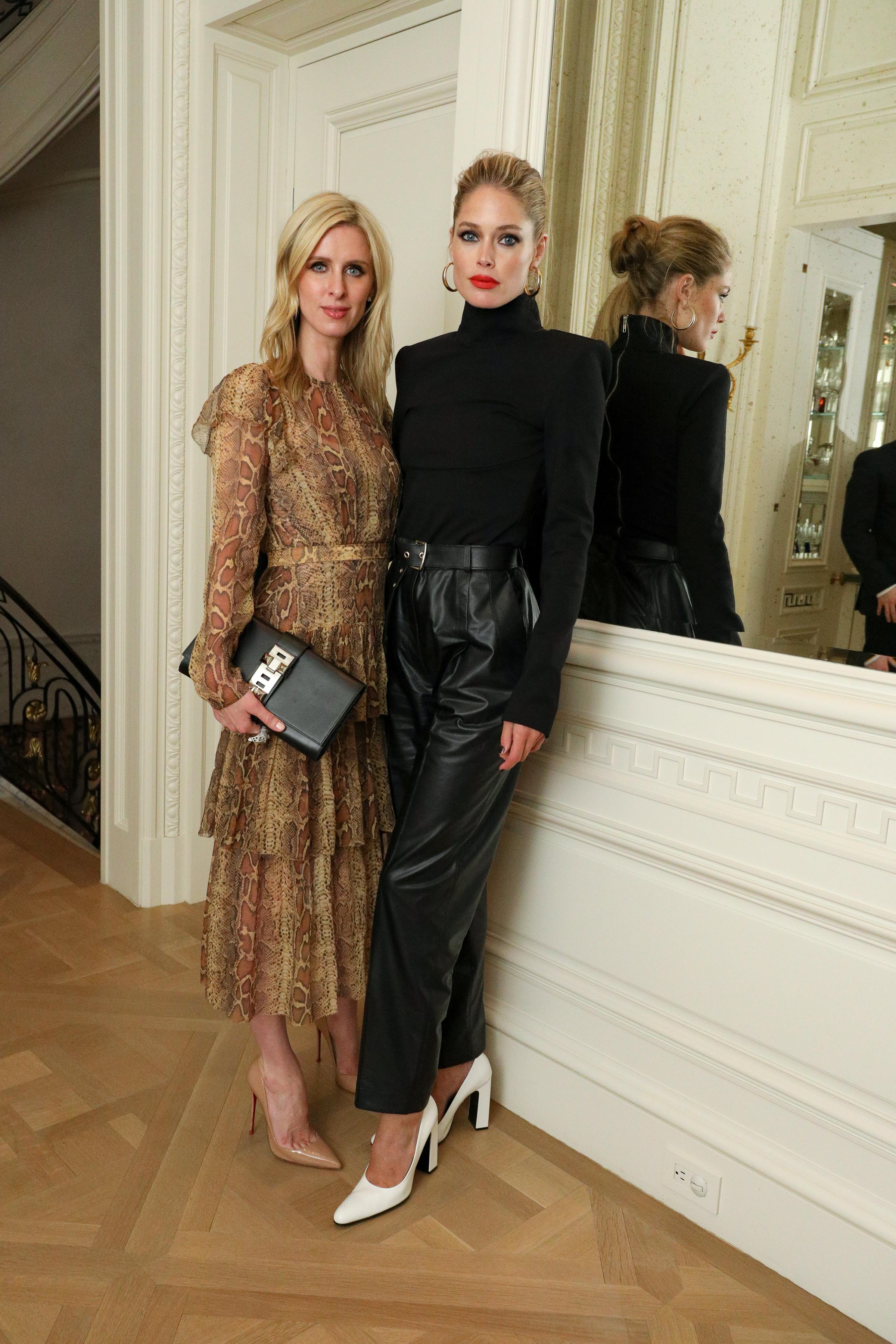 Socialite Nicky Hilton Rothschild and model Doutzen Kroes.