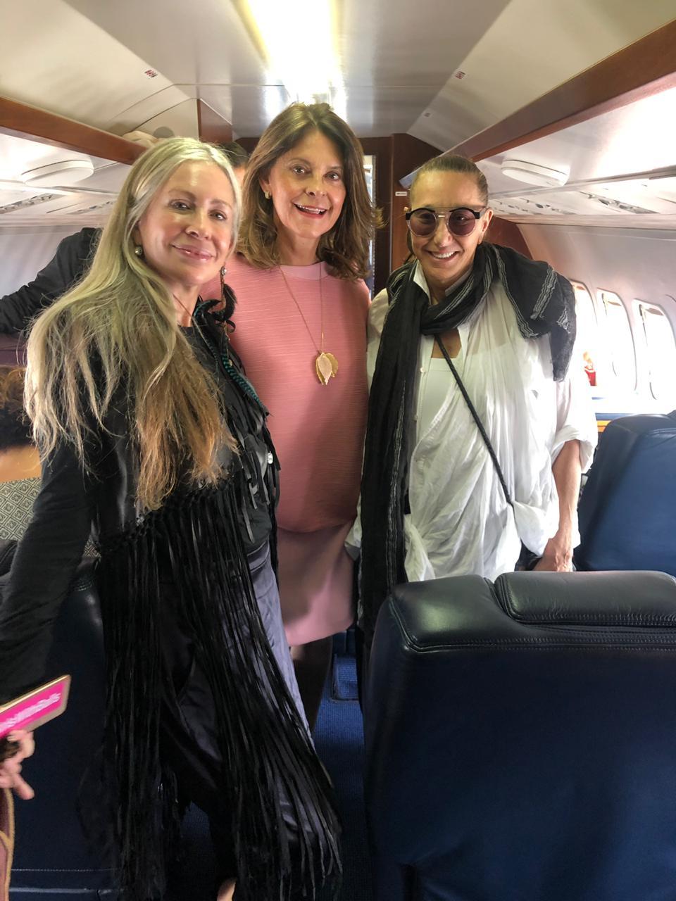Carmen and Donna with Colombia's Vice President Marta Lucía Ramírez.