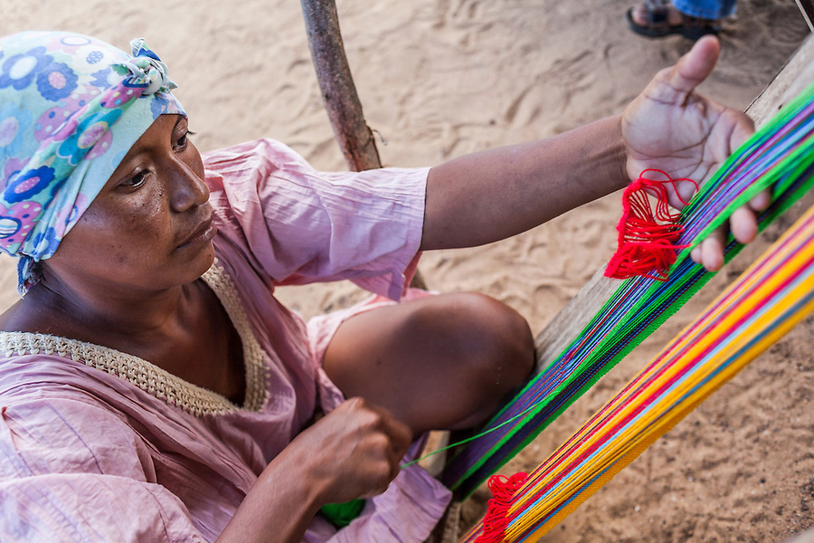Weaving is a centuries-old tradition and vital source of income for Colombia's Wayuu community / Photo: Jason Rothe.
