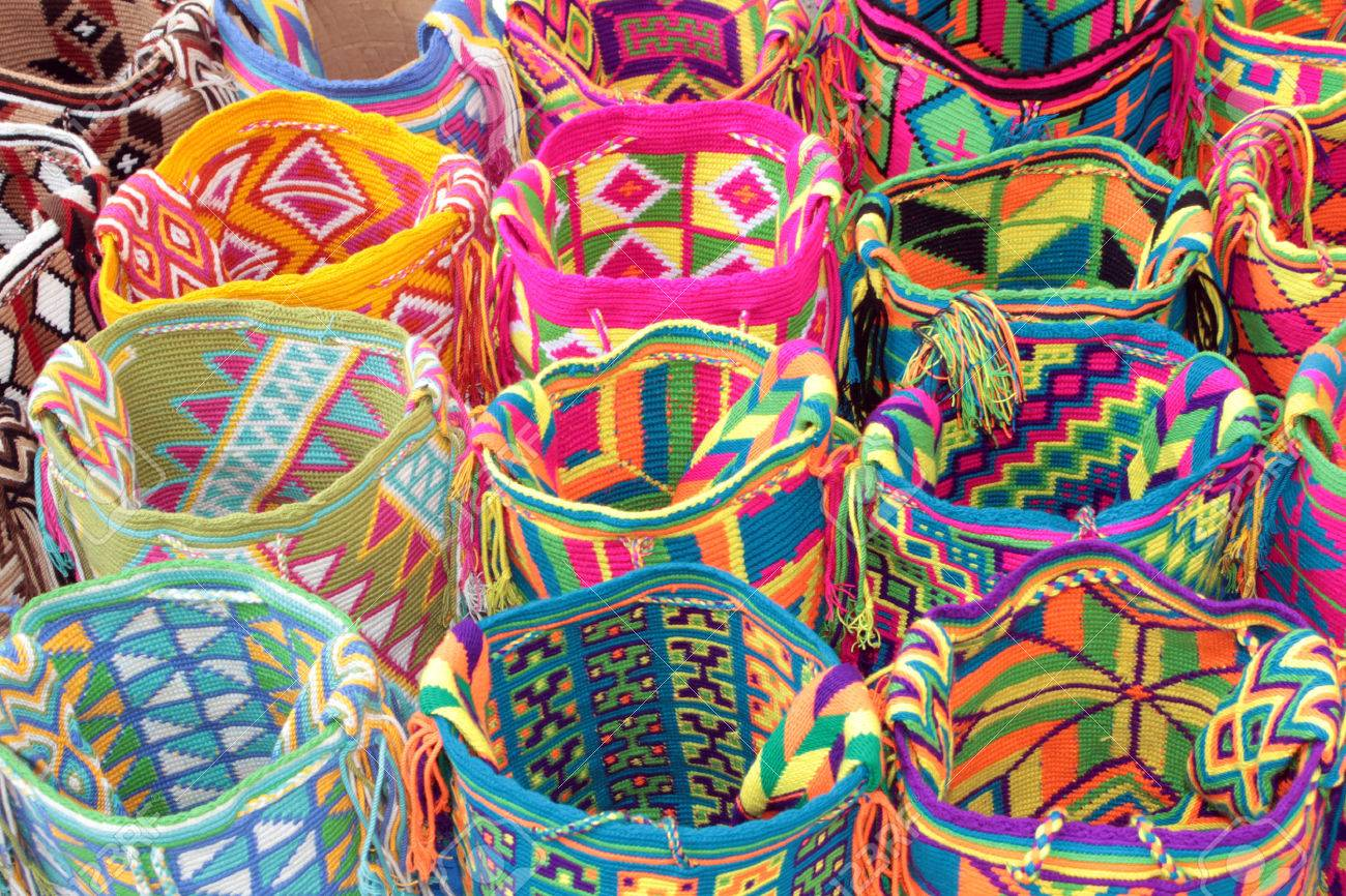 The Wayuu's distinctive Mochila bags.