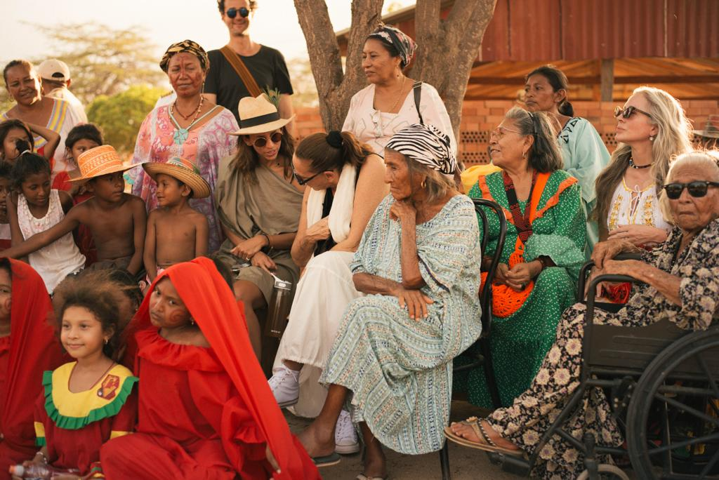 In La Guajira, Colombia with Paula Mendoza and Donna Karan as part of Looking For The Masters.