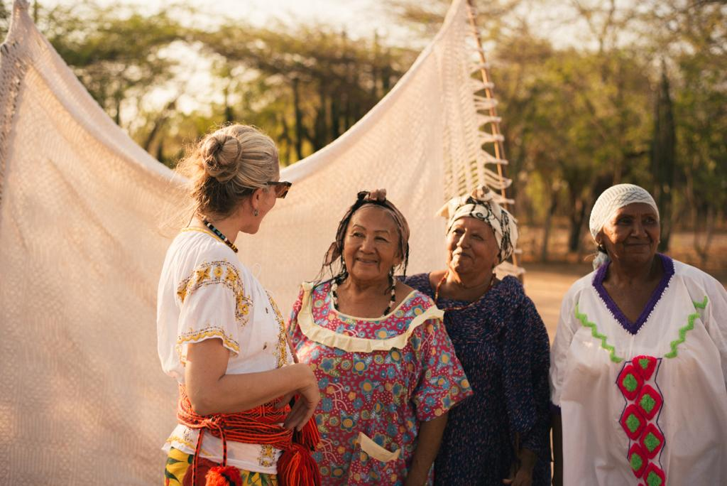 Connecting with artisan communities in La Guajira, Colombia.