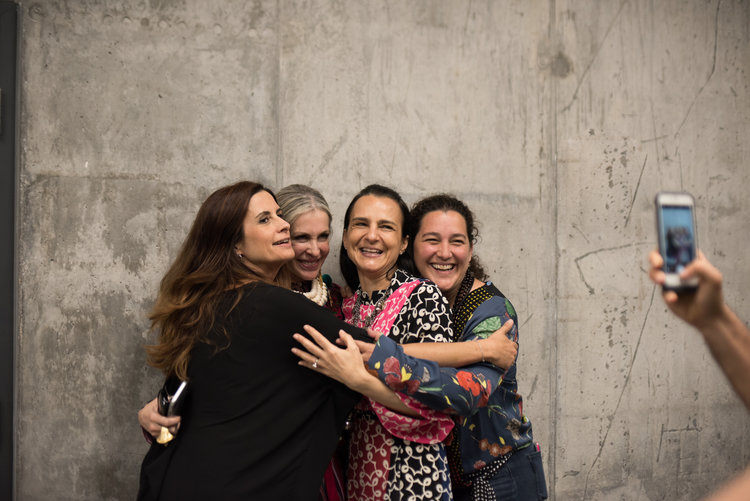 A coalition of like-minded women in San Jose, Costa Rica: with Livia Firth, founder of Eco-Age, Marianne Hernandez, president of PACUNAM, and Celina de Sola, co-founder and vice president of Glasswing.