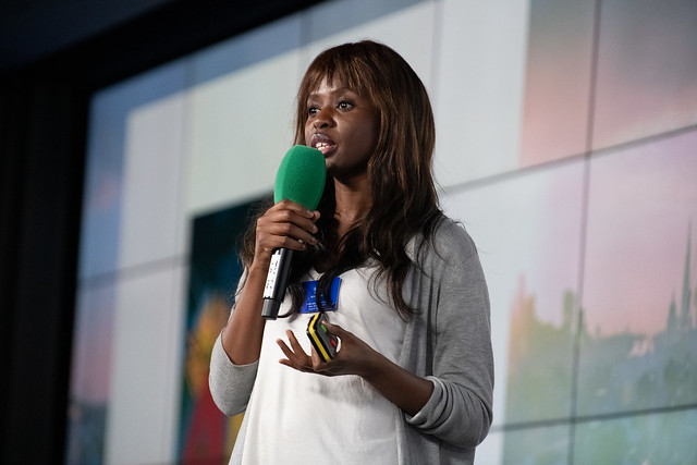 Broadcaster and diversity activist June Sarpong hosted one of the event's breakout sessions.