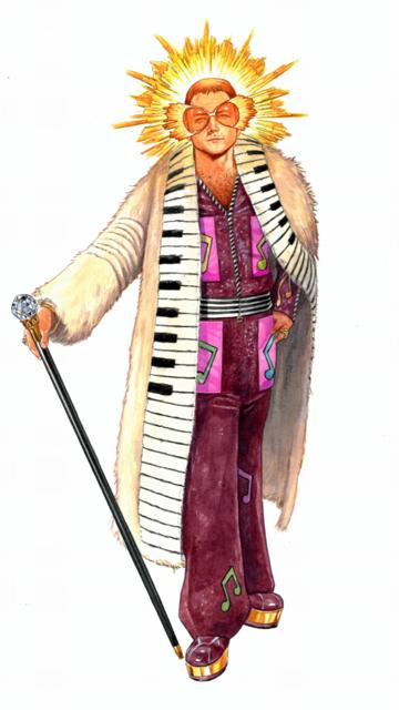 Elton John Rocketman Fur Coat