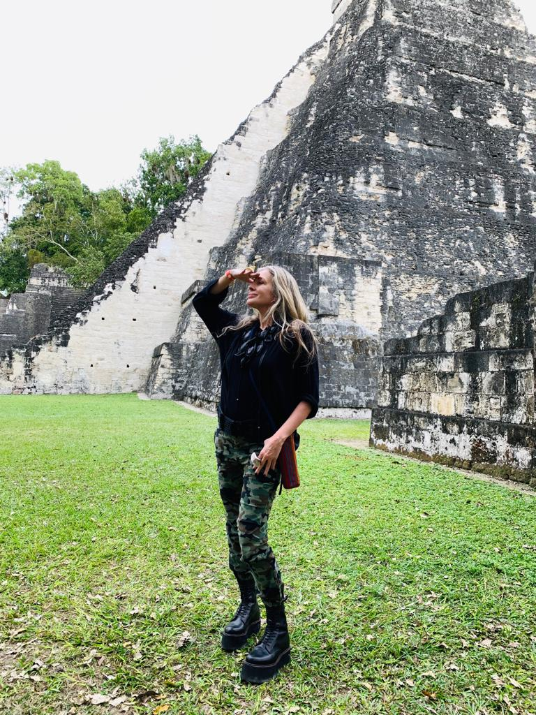 Carmen on Day 1 of the PACUNAM experience in Tikal, Guatemala.
