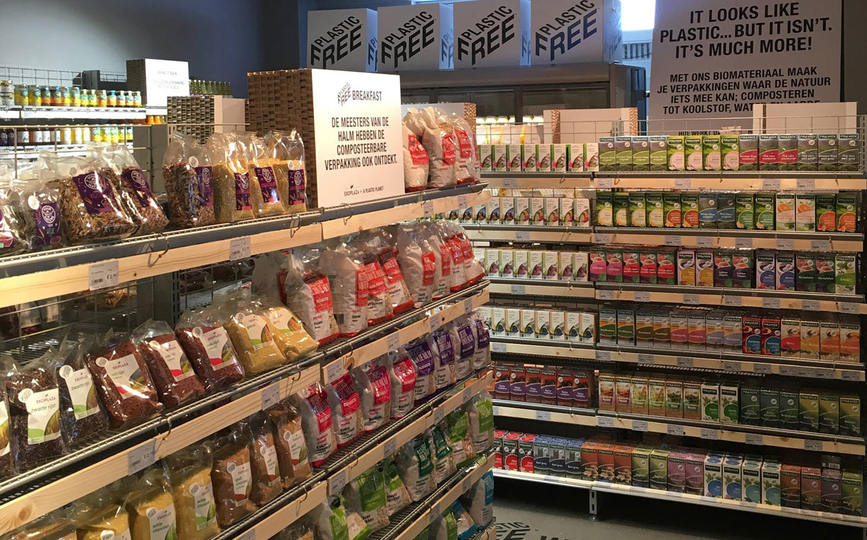 Dutch supermarket chain Ekoplaza rolled out the world's first plastic-free aisle.