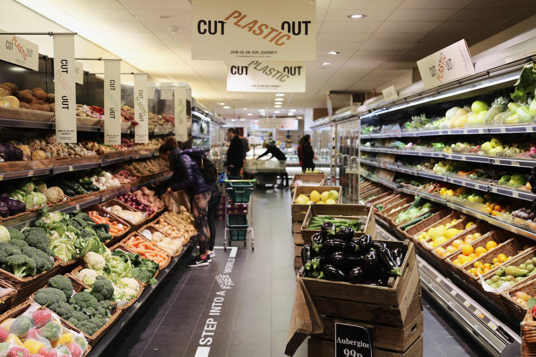Britain's Thornton Budgens in north London is looking became plastic-free in the next three years.