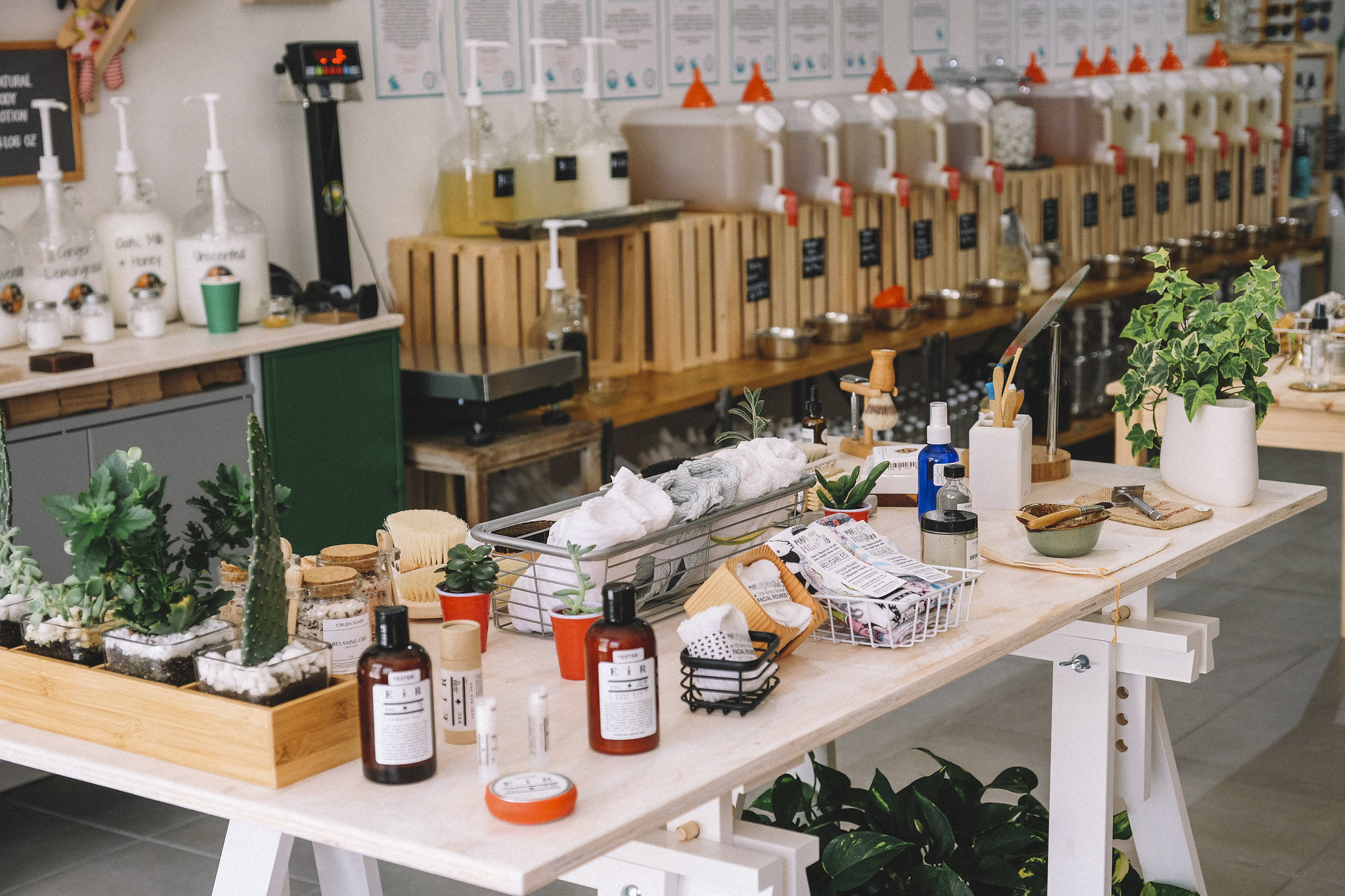 Verde Market in Miami's Wynwood Arts District allows customers to bring their own containers to fill up on everyday items like laundry detergent, dish soap and more.
