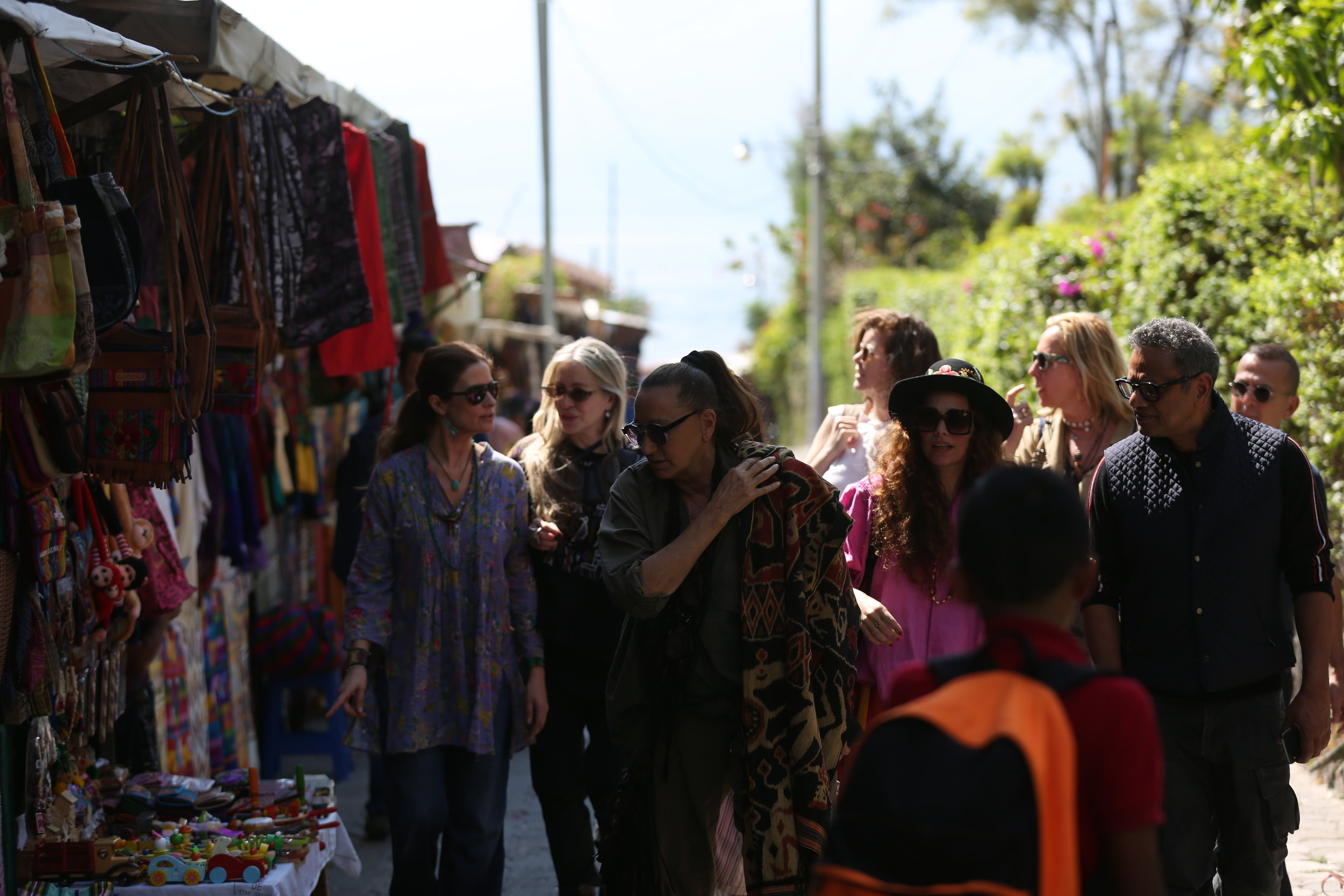 Livia with Carmen and Donna Karan visiting one of Guatemala's rural artisan communities.