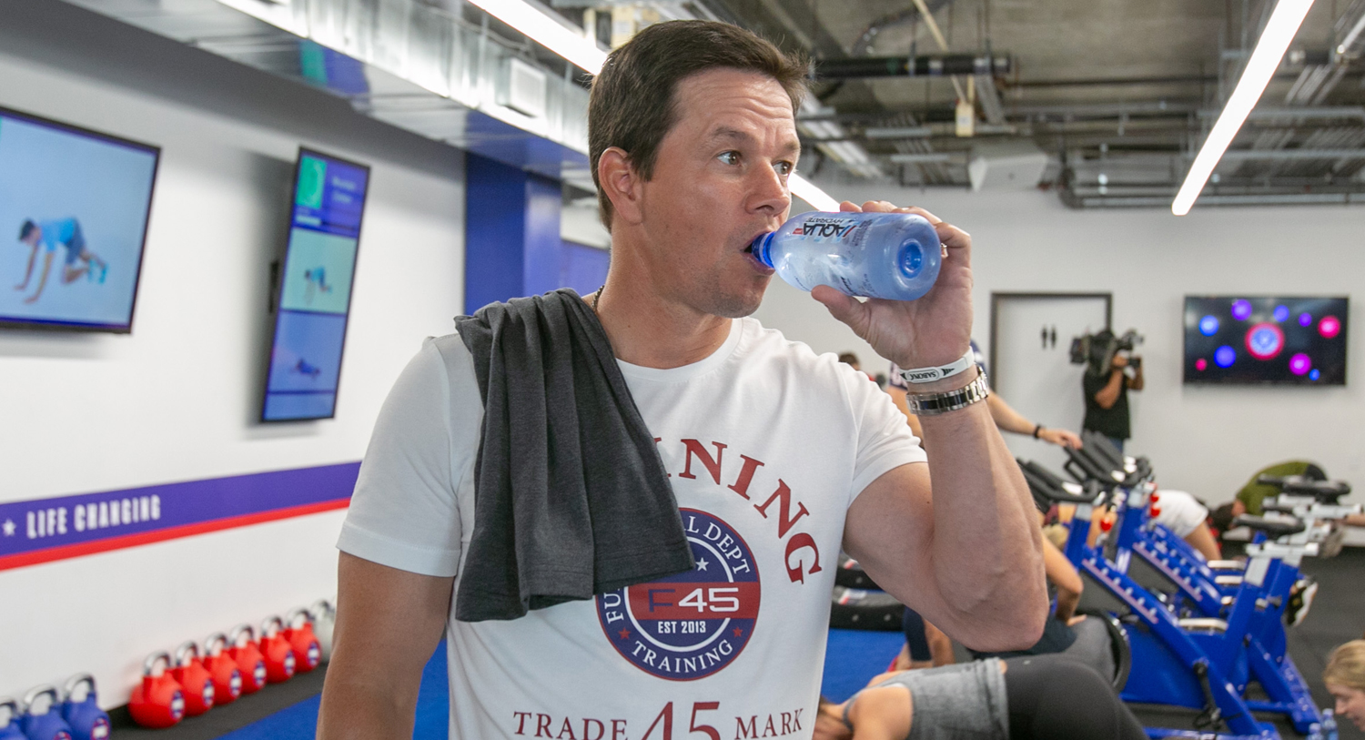 Mark Wahlberg at an F45 studio in West Hollywood. The actor's investment group has acquired a minority stake in the company.