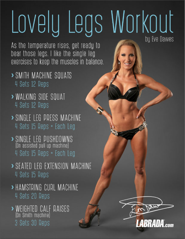 Leg and butt workout NASM personal trainer Eve Dawes black bikini