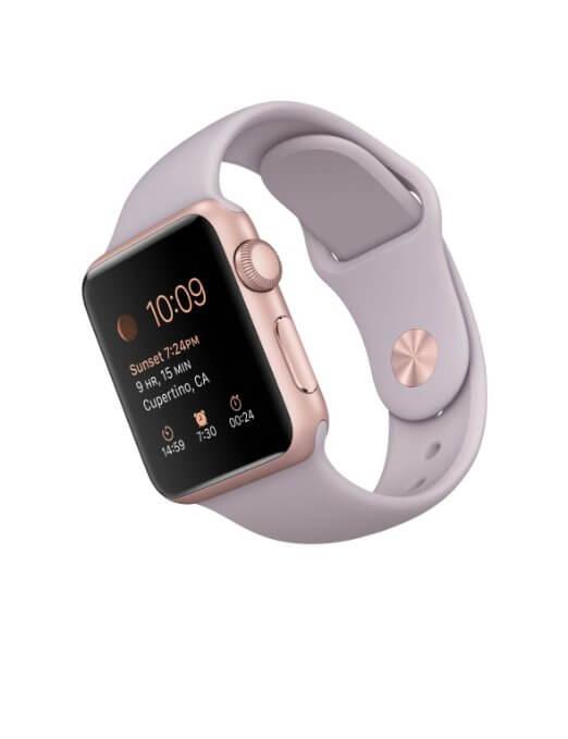 Rose Gold Apple Sports Watch