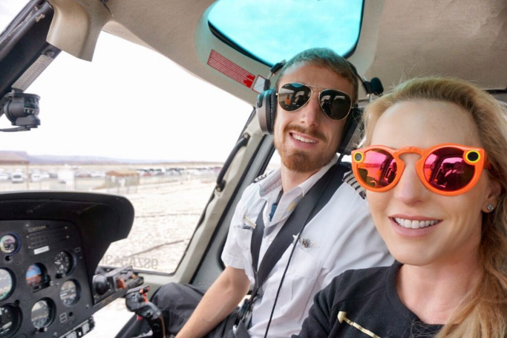 Sundance Helicopter pilot Eve Dawes Grand Canyon snapchat spectacles