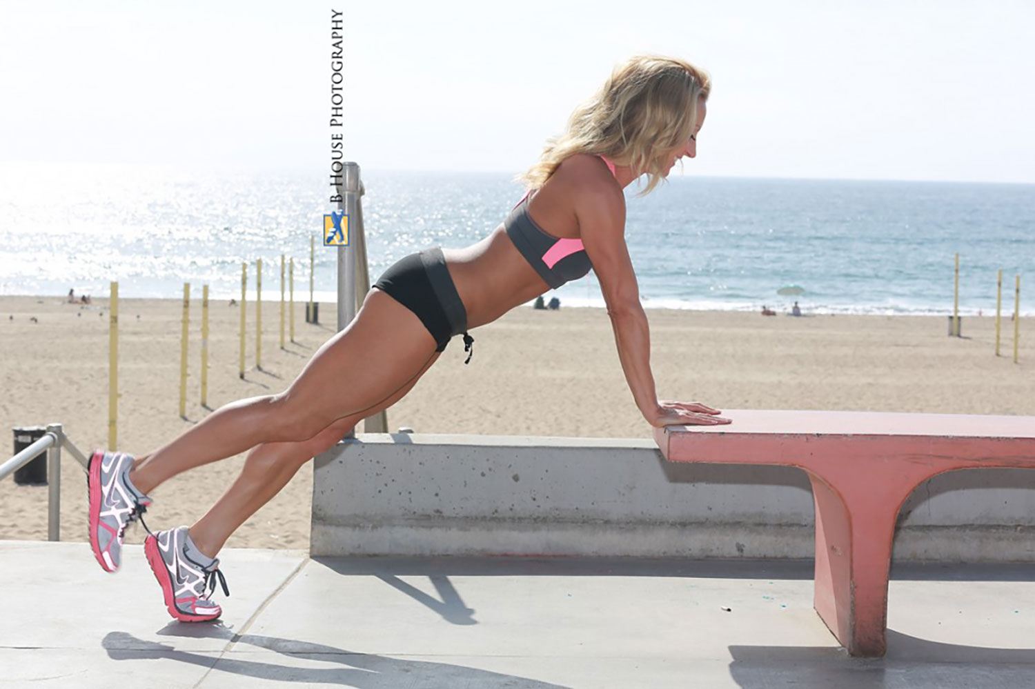 Challenge your core with a 1 leg push-up. Fitness by Eve.