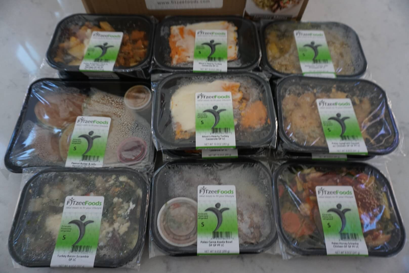 How the Fitzee Foods meal delivery meals are packaged.