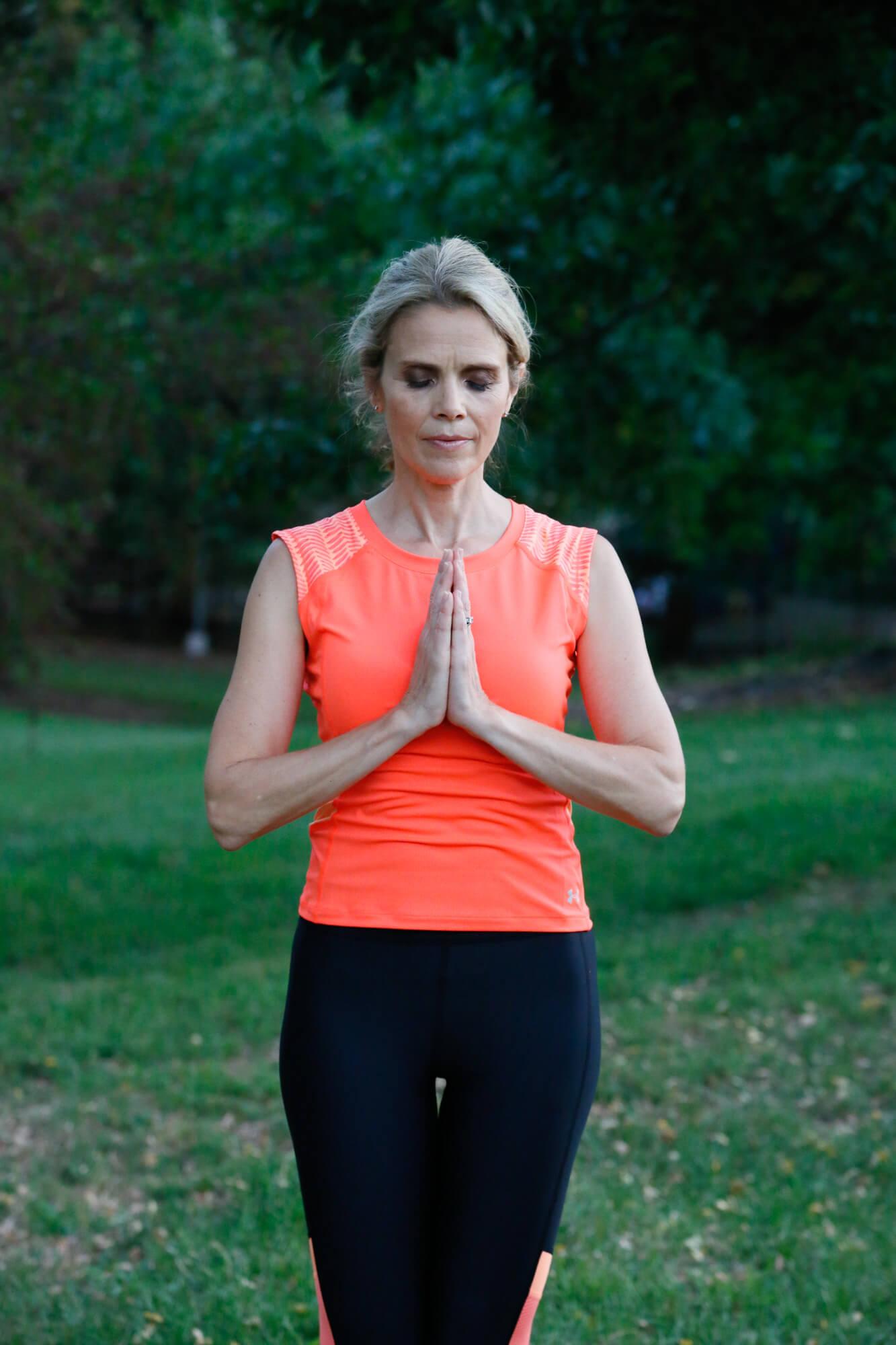 self esteem activity woman meditating