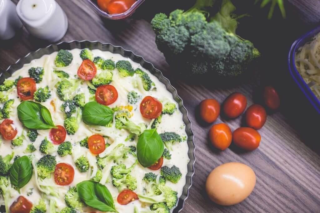 Egg white and vegetable frittata
