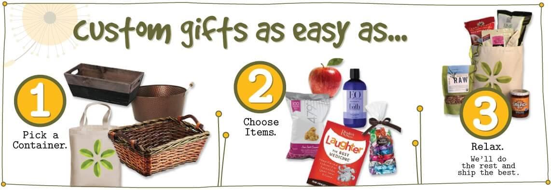 Fresh and Natural custom vegan gift baskets