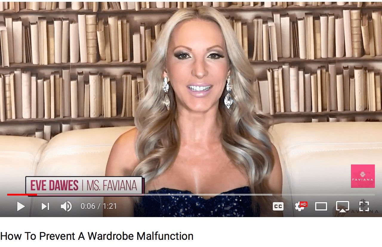 Watch the video below for 3 tips on how to prevent wardrobe malfunctions