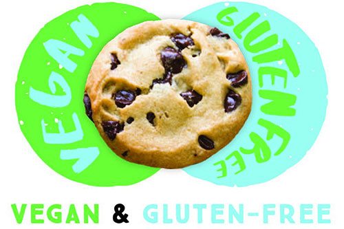 vegan gift Insomnia vegan gluten free chocolate chip cookie