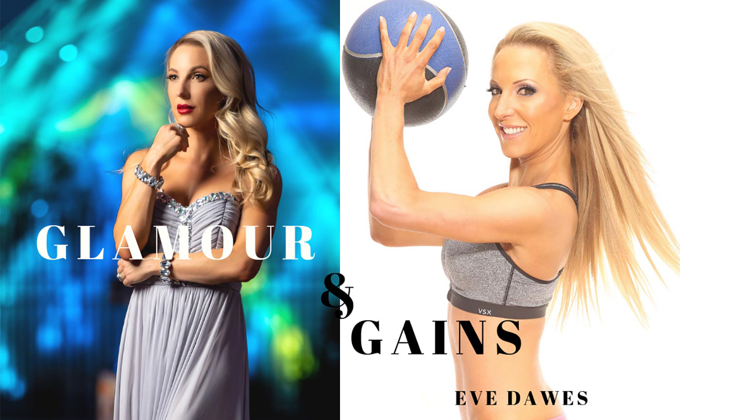 Glamour and Gains best lifestyle fitness podcast logo Eve Dawes
