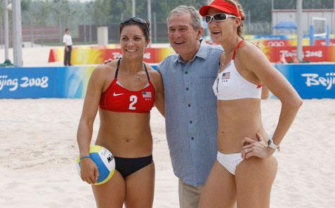 female athletes Kerri Walsh Jennings, Professional Beach Volleyball Olympic Gold Medalist.