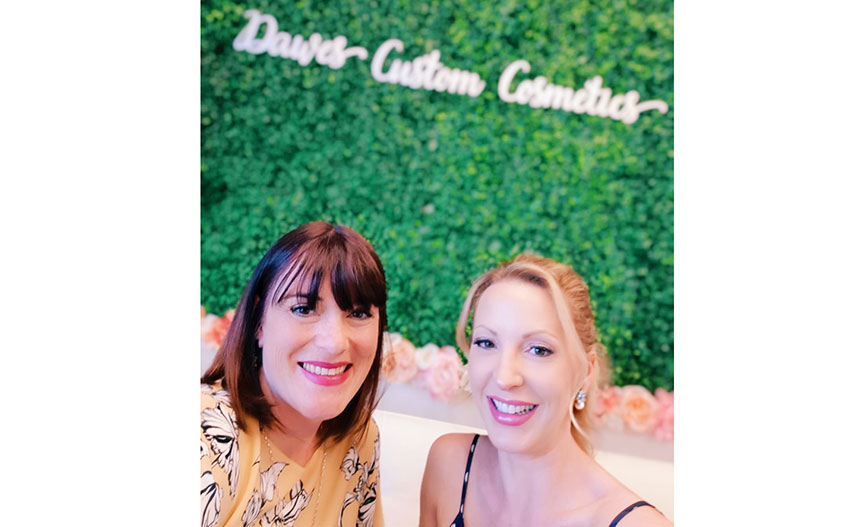 Catching up with Lynn James over cosmetics and cocktails in Las Vegas.