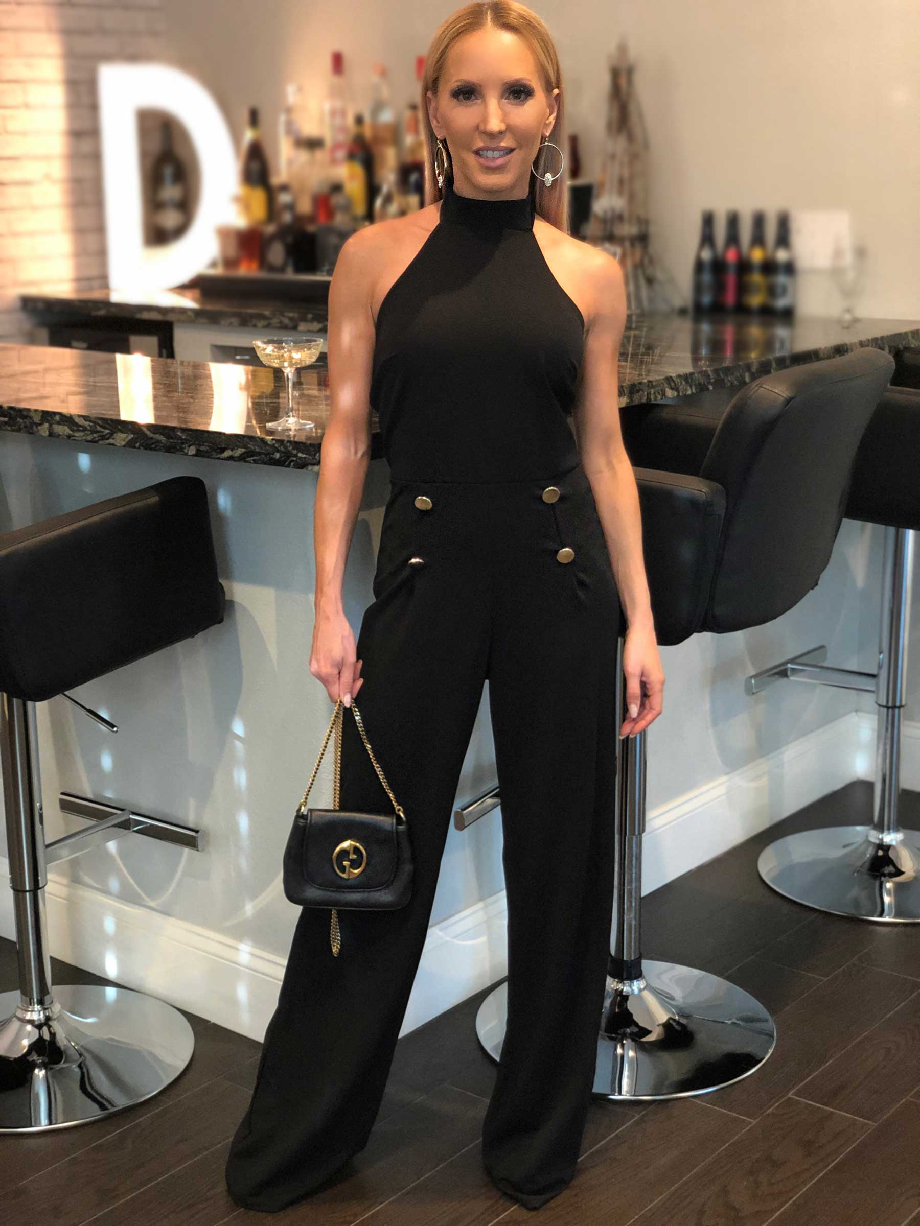 Femme Luxe Finery Halterneck Jumpsuit Vicky