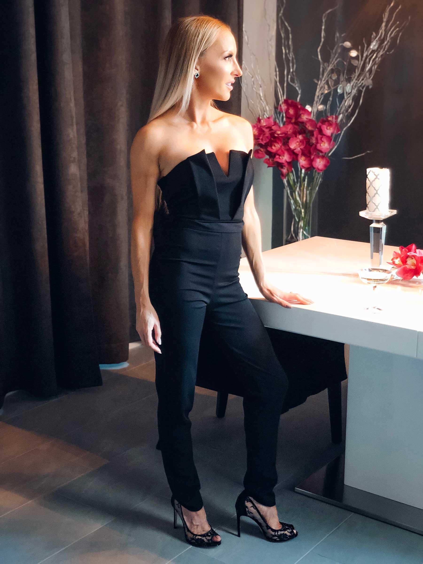 Black Sweetheart Neck Jumpsuit - Mila