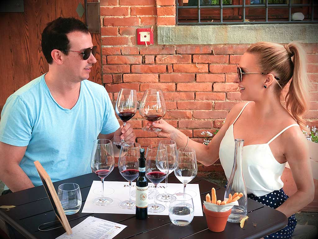 Tuscany wine tasting Avignonesi Winery Montepulciano Eve Dawes husband