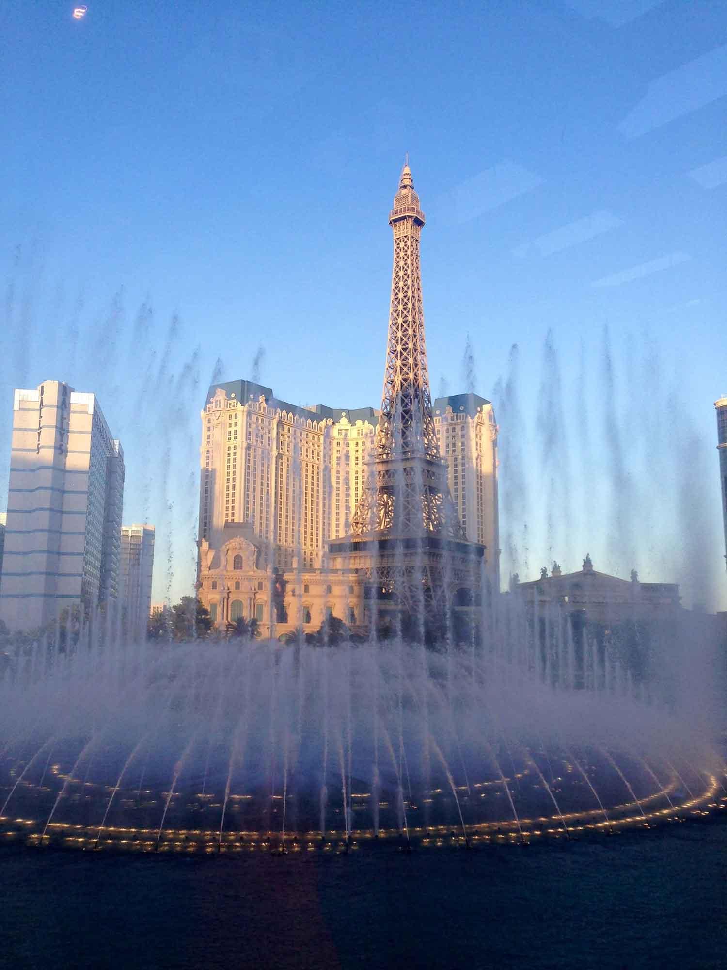 Las Vegas photo Bellagio Fountains from Bellagio Hotel Las Vegas